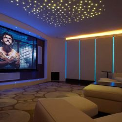 Combined home cinema and games room in sheffield