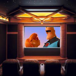 Large Screen Home Theater Wall Decor